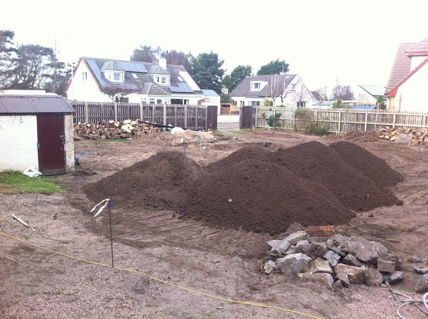 Forty tonnes of topsoil